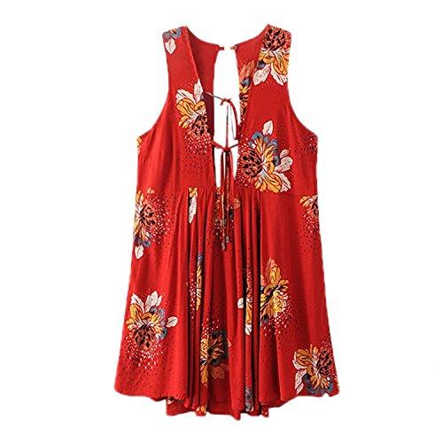 Keshia Dwete Holiday Dress Deep V Neck Lace Up Sleeveless Summer Dress NEW - 2014 Skirt Trends Latest
