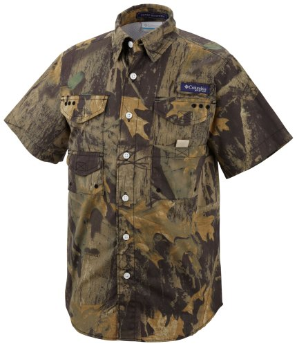 Columbia Super Bonehead S/S Shirt, Timberwolf, Large (Columbia Packed Out)