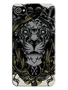 Retro tiger pattern with beige background for iphone 4 on-online