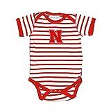 Nebraska Cornhuskers Striped NCAA College Newborn Infant Baby Creeper (6 Months)