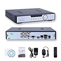 HISVISION 4CH 1080N AHD DVR 3-in-1 Hybrid(1080P NVR+1080N AHD+960H Analog) CCTV Home Security Surveillance HDMI/VGA Quick QR Code Scan Easy Remote Access Motion Detection &Email Alerts(No HDD)