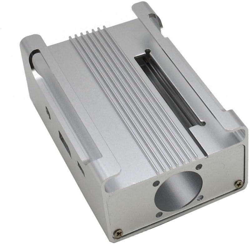 Silver Color : Silver HDHUA Modification Accessories Silver//Black Aluminum Alloy Protective Case Heatsink Cooling Fan Kit for Raspberry Pi 3B