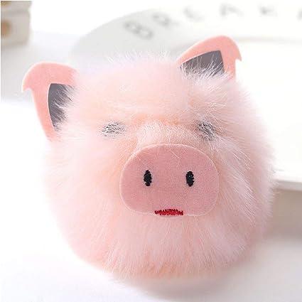 GOOTRADES - Llavero de Piel de Cerdo con diseño de muñeco de ...