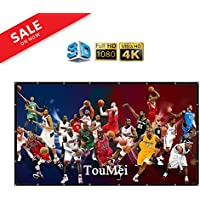 150 Inch portable Projector Screen Foldable Material: PVC 16:9 Easy to Clean HD Projection Screens Suitable for KTV, meeting rooms and outdoor leisure, open-air movies by TOUMEIT