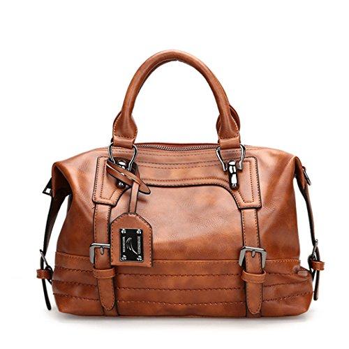 Sacs Bag Femmes Crossbody Femmes Sentsreny à Vintage Sac Luxury Femme à main cuir Brown en bandoulière Handbag xH8ww1