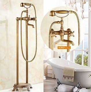 Grifo monomando de latón envejecido para ducha o baño: Amazon.es ...
