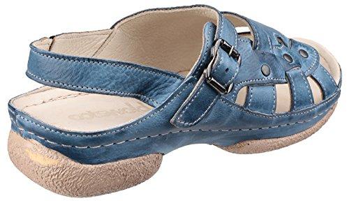 Cotswold Chipping Señoras Sandalias De Verano Damas Zapatos De Cuero Denim