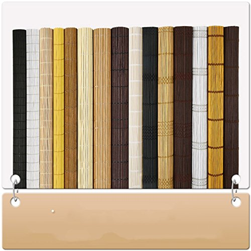 ZEMIN Blinds Shades Bamboo Roller Blind Inside/Outside Install Customizable Office Hotel Cut Off Hand-lifting, 2 Colors, 22 Sizes (Color : #1, Size : 50x120CM) by ZEMIN-zhulian (Image #7)