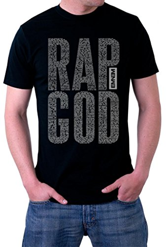 UD Gate Eminem Rap God Lyrics Logo T-Shirt Small Black
