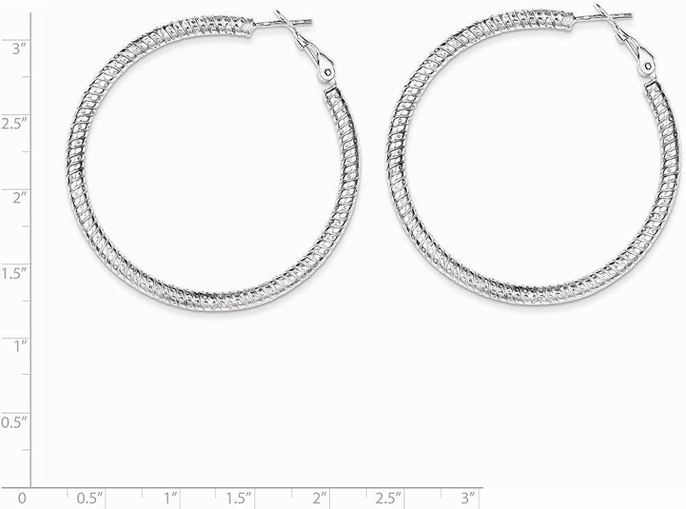 925 Sterling Silver Rhodium Plated Hinged Earrings