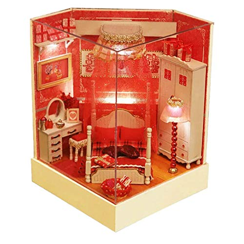 NATFUR 1:24 Dollhouse Miniature Furniture DIY Gift w/Dust Proof Home Decoration ()