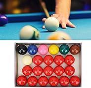 Snooker Balls, Resin Lime Powder Pigment Snooker Billiard Pool Table Balls Set Billiard Balls Set for Official