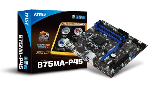 Photo - MSI LGA1155/Intel B75/DDR3/SATA3 USB 3.0/A&GbE/MicroATX Motherboard B75MA-P45