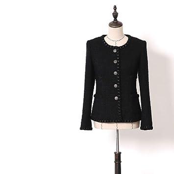 DGFHR Chaqueta De Mujer Abrigo Corto De Tweed Tweed De ...