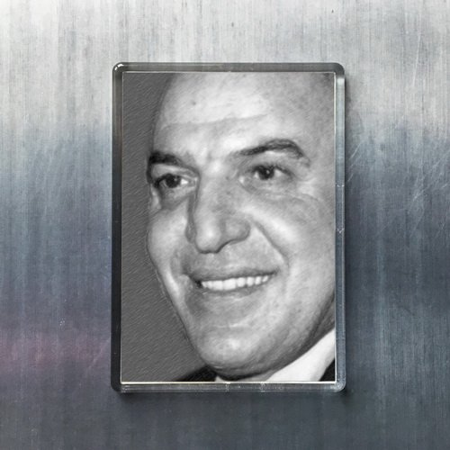 Seasons Telly SAVALAS - Original Art Fridge Magnet #js001