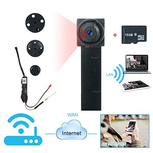 2 opinioni per WISEUP 16GB 1280x720P HD Wifi Rete Microcamere Spia Attivazione per Movimento di