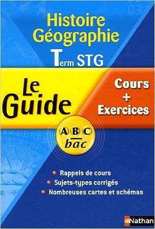 Livre Histoire Géographie Tle STG : Cours + Exercices pdf, epub