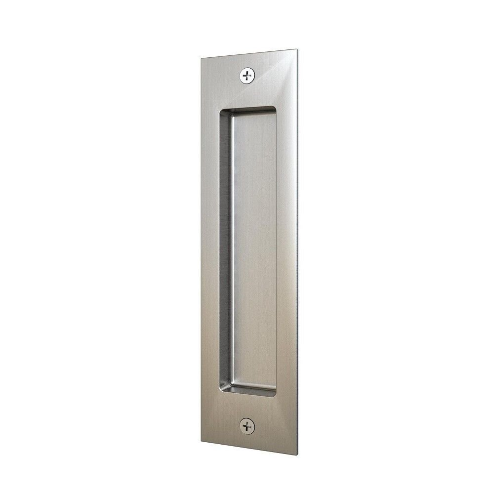 8in Satin Nickel Brushed Flush Pull Handle for Sliding Barn Door Hardware by JUBEST (Image #1)