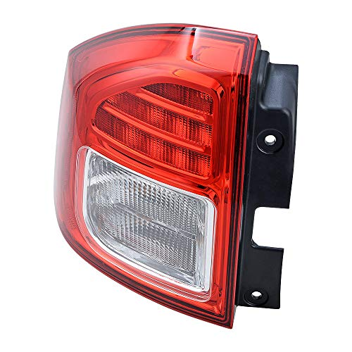 1X Left Driver Rear Side Tail Light Red Brake Stop Lamp Compatible with 2011-2014 Jeep Compass
