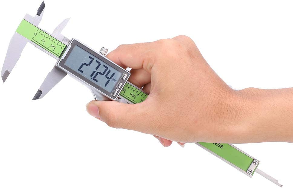 Digital Caliper, Electronic Vernier Caliper with LCD Screen Accurate Stainless Steel High Strength Electronic Ruler Gauge Used in DIY Measurement(300mm) 200mm