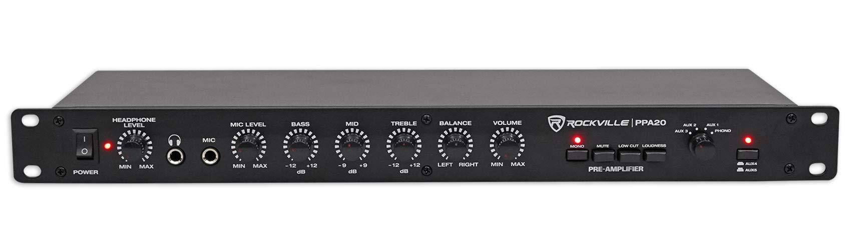 Rockville PPA20 Home Audio Preamp Pre-Amplifier w/Crossover+EQ