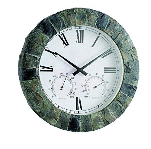 Gardman Gartenuhr Salisbury, Themometer, Hygrometer