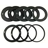 OLSUS 9-Adapter Rings + Lens Bracket + Square Hood Set - Black