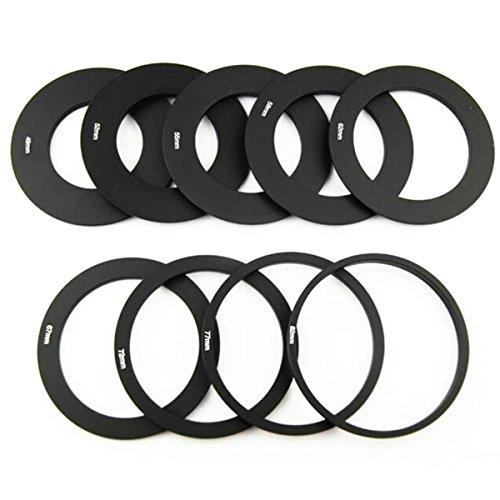 OLSUS 9-Adapter Rings + Lens Bracket + Square Hood Set - Black by OLSUS