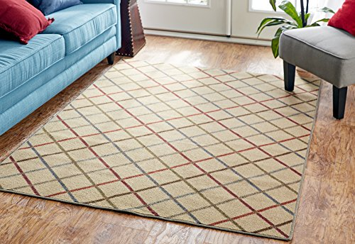 - Mohawk Home Soho Alistar Plaid Area Rug, 5' x 7', Light Multicolor