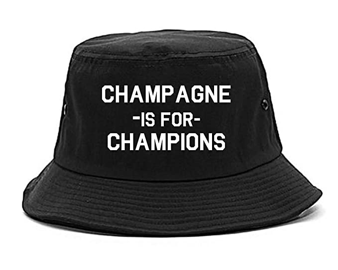 Amazon.com  Champagne Is For Champions Bucket Hat Black  Clothing a0fe6e77c30