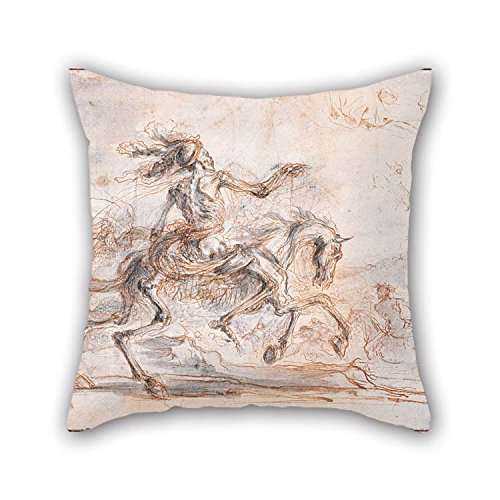 beeyoo Pillowcase 20 X 20 inches / 50 by 50 cm(2 Sides) Nice Choice for Home Theater Kids Room Living Room Monther Bar Oil Painting Stefano Della Bella - Death On The Battlefield for $<!--$13.99-->