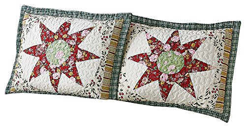 Country Star Floral Patchwork Pillow Sham