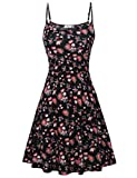FINMYE Petite Dess,Women Daily Holiday Hawaiian Dressy Clothes Red Floral S