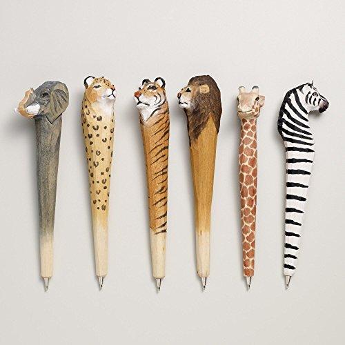 wood-carved-animal-pens-assorted-6-pklongest-is-775l