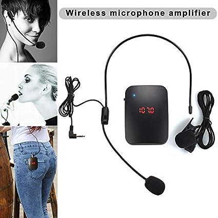 Transmisor de micrófono inalámbrico FM con micrófono para ...