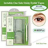 800Pcs Natural invisible Single Side Eyelid Tape Stickers Medical-use Fiber Eyelid Lift Strip