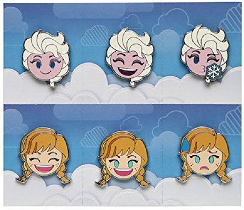 Disney Pin - Emoji Blitz - Booster Set - Frozen Anna and Elsa
