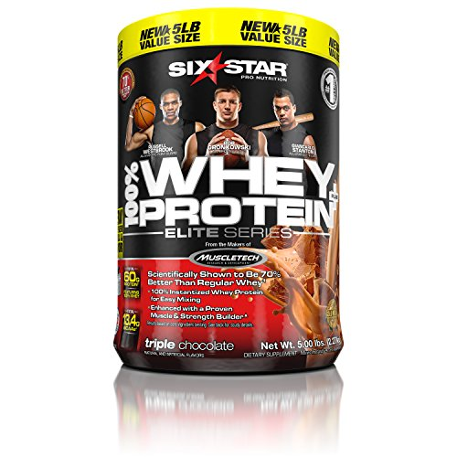 [Six Star Pro Nutrition 100% Whey Protein Plus, Whey Protein Powder, Triple Chocolate, 5 Pound] (Book Week Group Costumes)