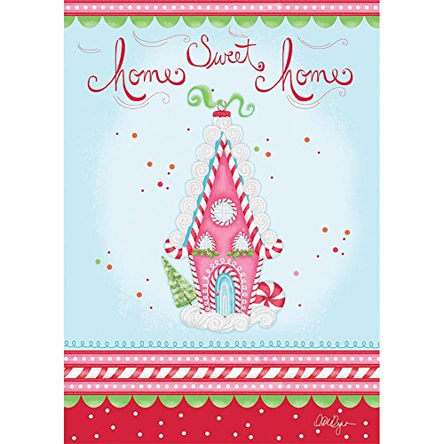 Lang - Large Garden Flag -Home Sweet Home, Exclusive Artwork by LoriLynn Simms - All-Weather, Fade-Resistant Polyester - 28
