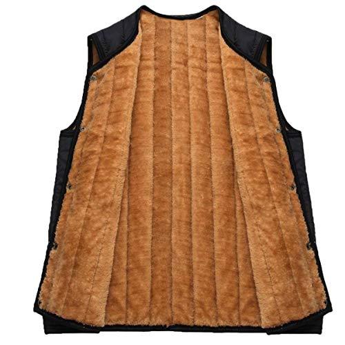 Uomo Uomo A A A Gilet Pile Giovane in con Vest da Schwarz Scollo Giacca Homewear Senza Vest Simply V Vest Maniche Giacca 550xqprgwP