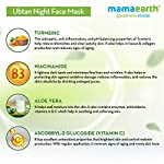 Mamaearth Ubtan Night Sleep Face Mask, Night Cream Gel with Turmeric & Niacinamide for Glowing Skin – 100 g