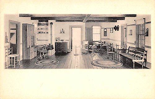 (Living room about 1800 Shaker Community House Postcard)