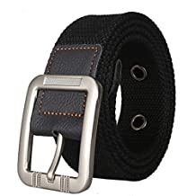 Men's Adjustable Waist Military Metal Pin Buckle Canvas Web Belts