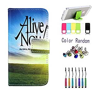 ZL Live In The Present Pattern Full Body Case with Stylus ,Anti-Dust Plug and Stand for iPhone 6 Plus
