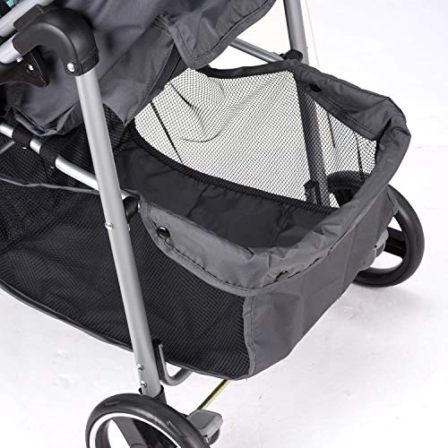 51JgE6BO3XL - Evenflo Vive Travel System With Embrace Infant Car Seat, Spearmint Spree