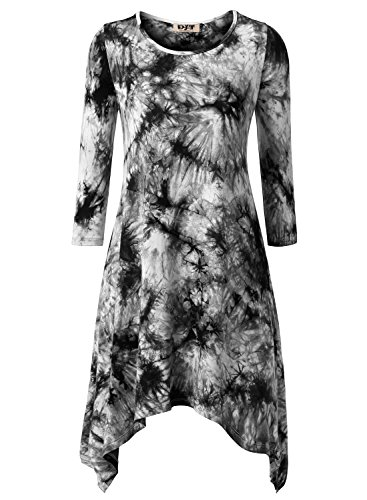 DJT Womens Sleeve Asymmetrical Trapeze