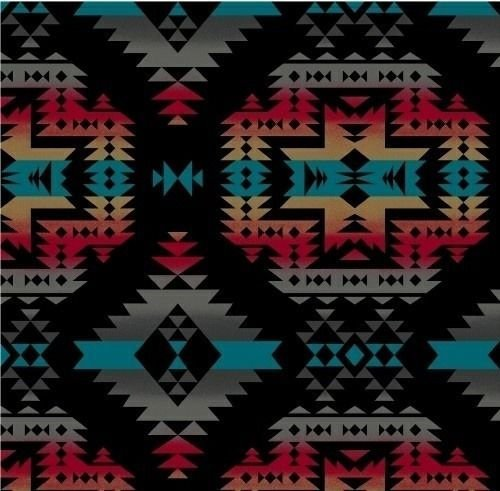 VelvaFleece Canyon Black Southwest Fleece Fabric Print by the Yard ()
