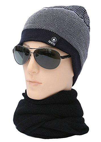 del Gorro Para Sombrero de Invierno Otoño Roffatide Slouchy Punto Parche marino Beanie Alfabeto Azul Unisexo Acrílico 4qEzSw1Hx