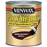 Minwax 61380444 PolyShades - Stain & Polyurethane in 1 Step, quart, Bombay Mahogany, Satin