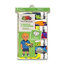 Fruit of the Loom Toddler Boy's 7-Pack Days Of The Week Briefs